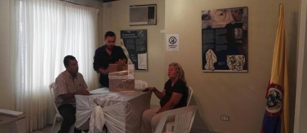 Inició la jornada electoral en el Consulado de Colombia en Puerto Ordaz