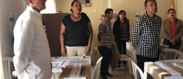 Último día de votaciones en Puerto Ordaz, Venezuela