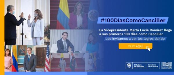 Ocho visitas oficiales al exterior y 50 reuniones con homólogos y embajadores de otros países, una transformación en 100 días